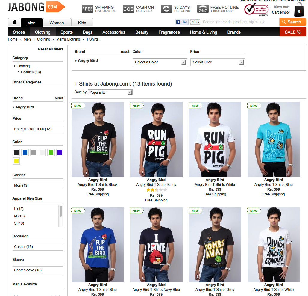 Black t shirt jabong - But The Question That Arises Here Is Consumerification Of Gaming A Viable Business Model Well We Don T Have The Sales Statistics From Jabong Com To