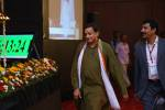 Dr. Shashi Tharoor, MP & Union Minister HRD, arriving at the ICTT 2013